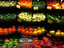 Pfeffer, Rot, Gelb, Orange, grün lizenzfreie stockfotografie