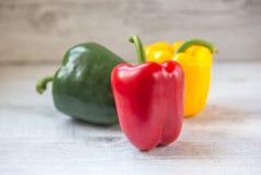 Pfeffer, Rot, Gelb, Orange, grün Stockfoto