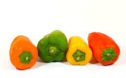 Pfeffer, Rot, Gelb, Orange, grün Stockfotografie