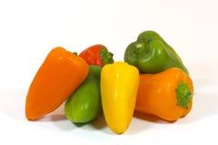 Pfeffer, Rot, Gelb, Orange, grün Stockfotos