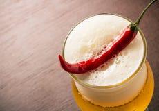 Pfeffer und Bier Lizenzfreies Stockfoto