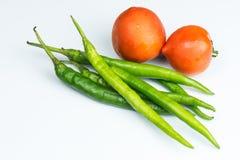 Pfeffer und Tomate Stockbild