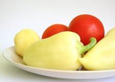 Pfeffer und Tomaten stockfotografie