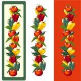Pfeffer und Tomaten Lizenzfreies Stockbild
