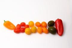 Pfeffer und Tomatenkirsche Lizenzfreies Stockfoto