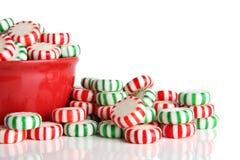 Pfefferminz-Weihnachtssüßigkeit Stockfotografie