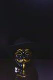 Pfeifen-Gebläse anonym lizenzfreies stockbild