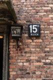 Pfeifen Sie Block in Auschwitz Birkenau Nazi Concentration und im Ausrottungs-Lager aus Lizenzfreies Stockfoto