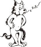 Pfeifender Hund mit Würsten Lizenzfreies Stockbild