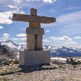 Pfeifer mit Küsten-Bergen, Britisch-Columbia, Kanada Stockbilder