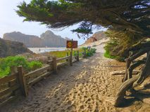 Pfeiffer Beach entrance Royalty Free Stock Image