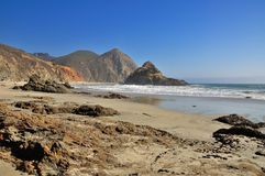 Pfeiffer beach in Big Sur Royalty Free Stock Images