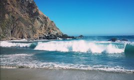 Pfeiffer Beach Park Big Sur California HWY1 royalty free stock photography