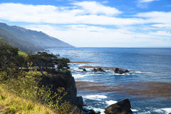Pfeiffer Big Sur coast, Sea cliff. Excellent view of west coast royalty free stock photos