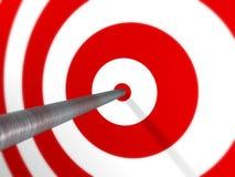 Pfeil auf Ziel Lizenzfreies Stockfoto