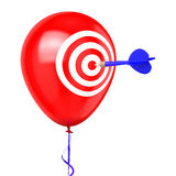 Pfeil, der Ballon schlägt Lizenzfreies Stockbild