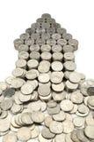 Pfeil der Münzen Stockbilder