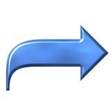 Pfeil des Azurblau-3D Stockfoto