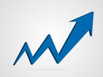 Pfeil-Diagrammillustration des Vektors 3d Stockfotos