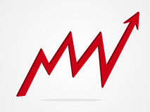 Pfeil-Diagrammillustration des Vektors 3d Lizenzfreie Stockfotografie