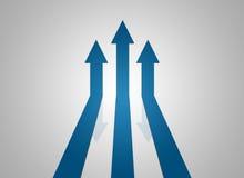 Pfeil drei steigen Lizenzfreies Stockfoto