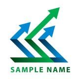Pfeil für Logo Lizenzfreie Stockbilder