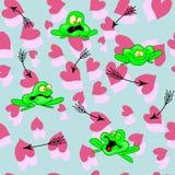 Pfeil-Frosch-Herz Lizenzfreies Stockfoto