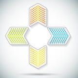 Pfeil-glühen-Logo-auf-Steigung-Hintergrund-Karte Lizenzfreie Stockfotos