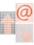 Pfeil-, Hand- und Postzeichen Lizenzfreies Stockfoto