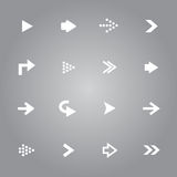 Pfeil-Ikonen eingestellt stock abbildung