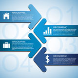 Pfeil Infographic Stockfoto