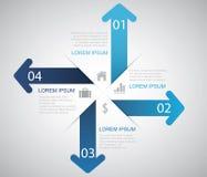 Pfeil Infographic stock abbildung