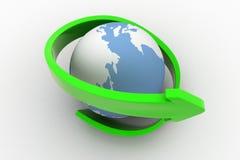 Pfeil-Konzept der Erde3d Stockbilder