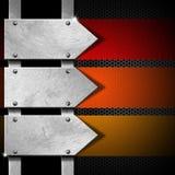Pfeil-Metallschild Stockbild