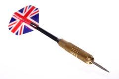 Pfeil mit britischem Markierungsfahnenflug Lizenzfreie Stockfotos