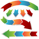 Pfeil-Prozessikonen lizenzfreie abbildung