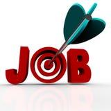 Pfeil schlägt Bullauge - Job lizenzfreie abbildung