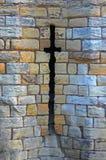 Pfeil-Schlitze, mittelalterliches Schloss Stockfotografie