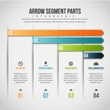 Pfeil-Segment zerteilt Infographic Lizenzfreie Stockfotos