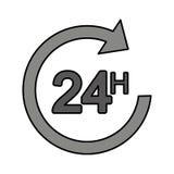 Pfeil 24 Stunden Service Lizenzfreie Stockbilder