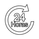 Pfeil 24 Stunden Service Lizenzfreie Stockfotos