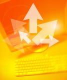 Pfeil-Team-Arbeiten Stockfoto