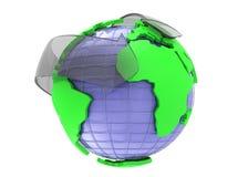 Pfeil- und Erdkugel 3d übertragen stock abbildung