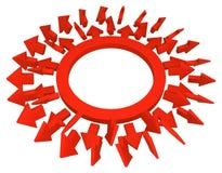 Pfeil-Wahl Ring Red lizenzfreie abbildung