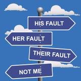 Pfeil, Zeichen nicht meine, Störung, Verschiebung, Schuld Stockbilder