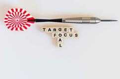 Pfeil-Ziel-Fokus-Ziel Lizenzfreie Stockfotos