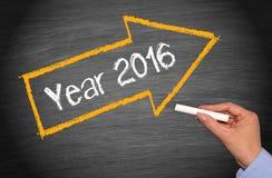 Pfeil zu Jahr 2016 Stockfotos