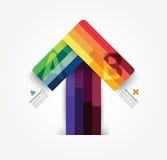 Pfeilartinformations-Grafikschablone des modernen Designs minimale Stockbilder