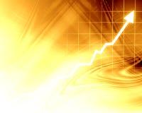Pfeildiagramm, das steigt Lizenzfreies Stockfoto
