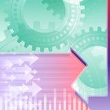 Pfeile übersetzt linksrechts Teamwork-Hintergrund-Grün Lizenzfreie Stockbilder